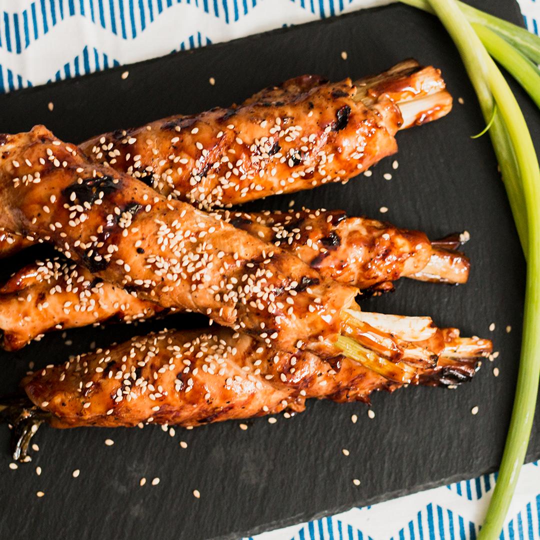 Video Gulungan Ayam Wijen Dan Daun Bawang Makan Malam Resep Makanan Makanan