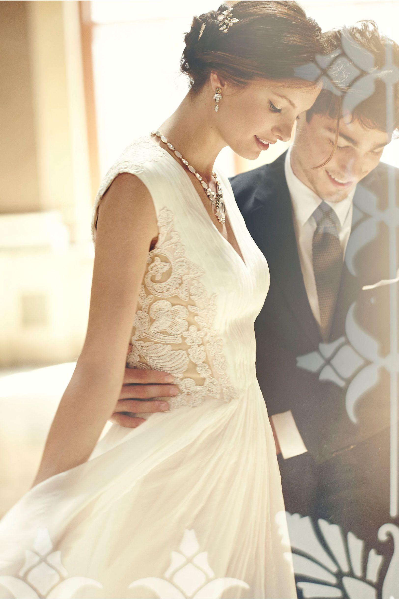 Long wedding reception dresses for the bride  Lara Dress from BHLDN  Wedding Business  Pinterest  Bride