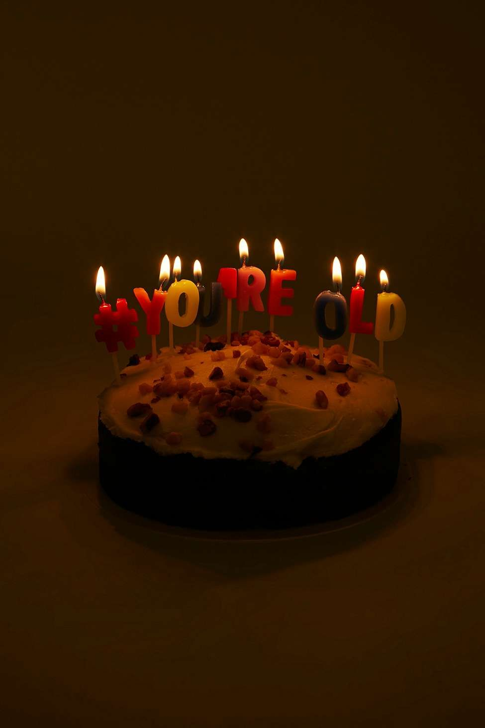 Youre Old Birthday Cake Candles Cake Party Pinterest