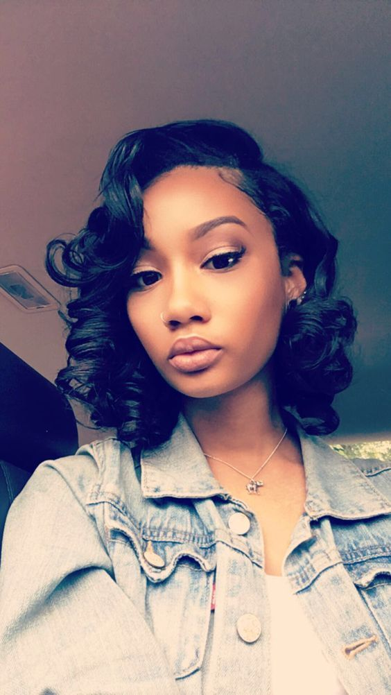L Part Short Bob Curly Synthetic Lace Front Wig