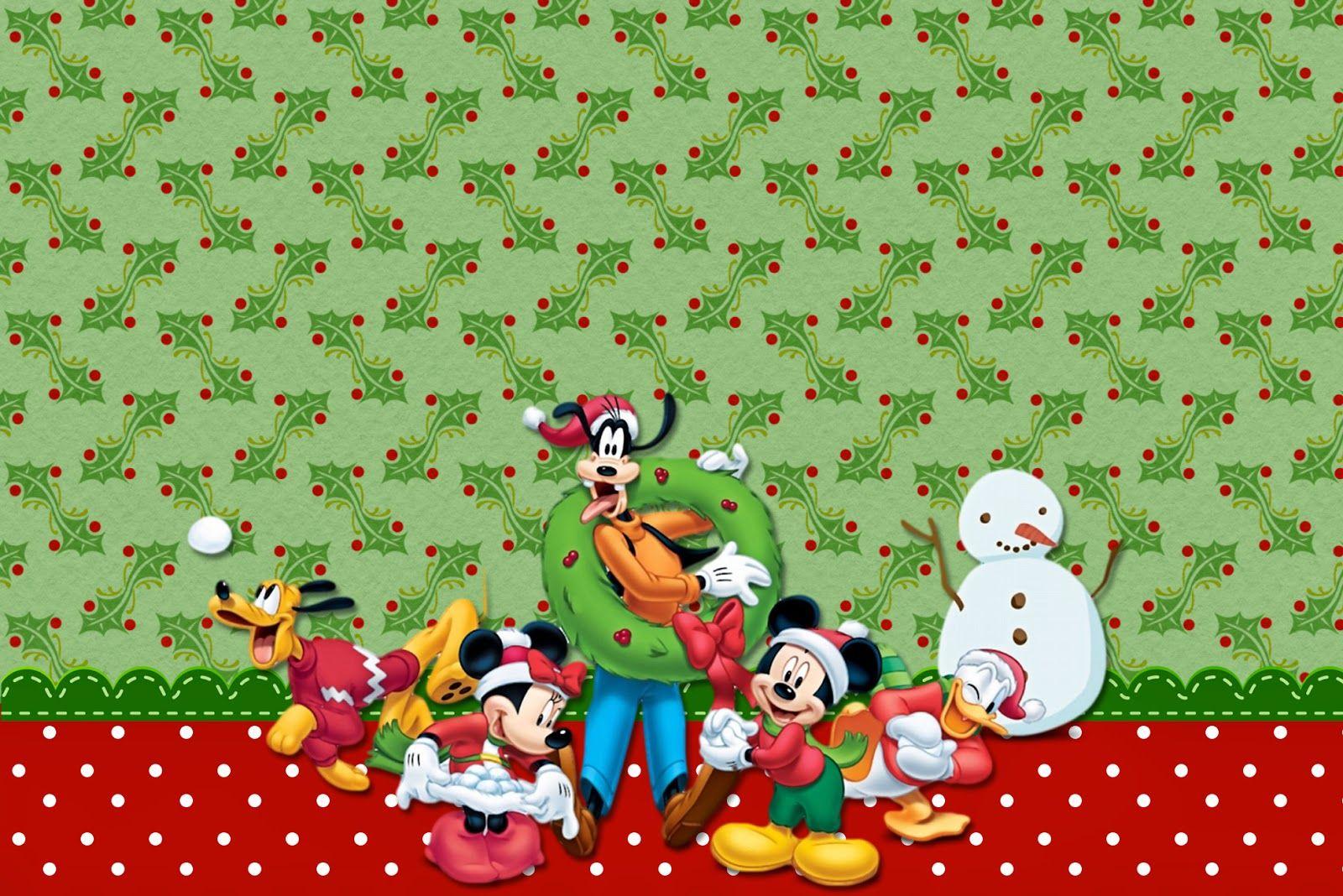 Minnie y Mickey Especial Navidad: Invitaciones para Imprimir ...