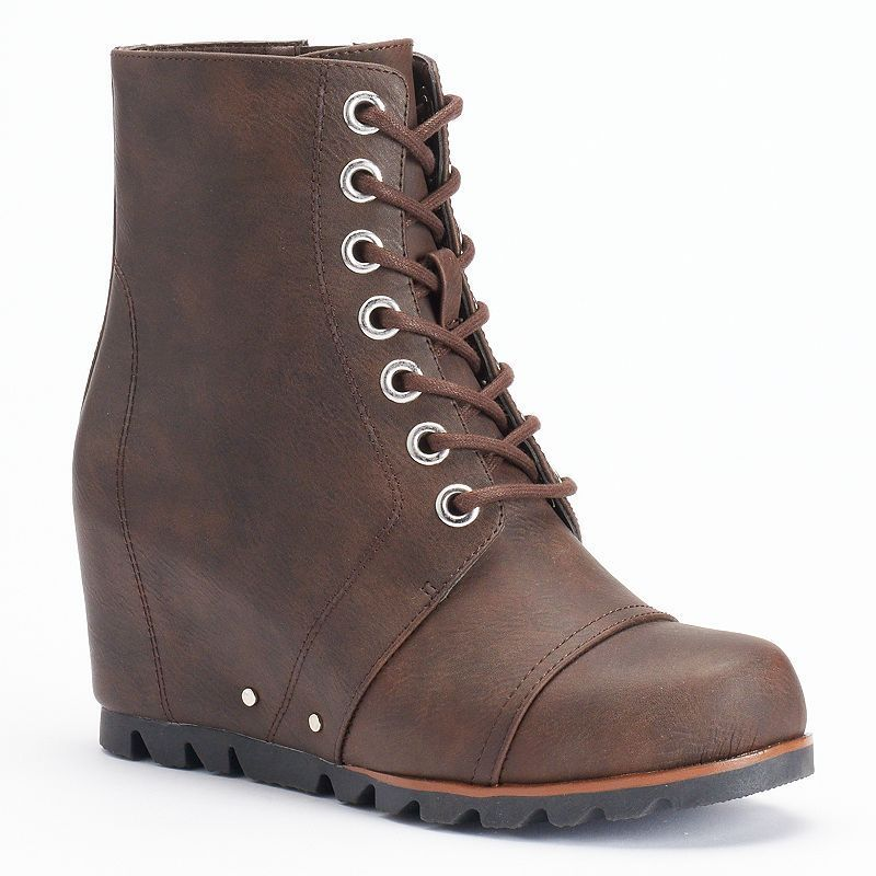 9eb5d910a07 Unionbay Sassy Women s Wedge Combat Boots