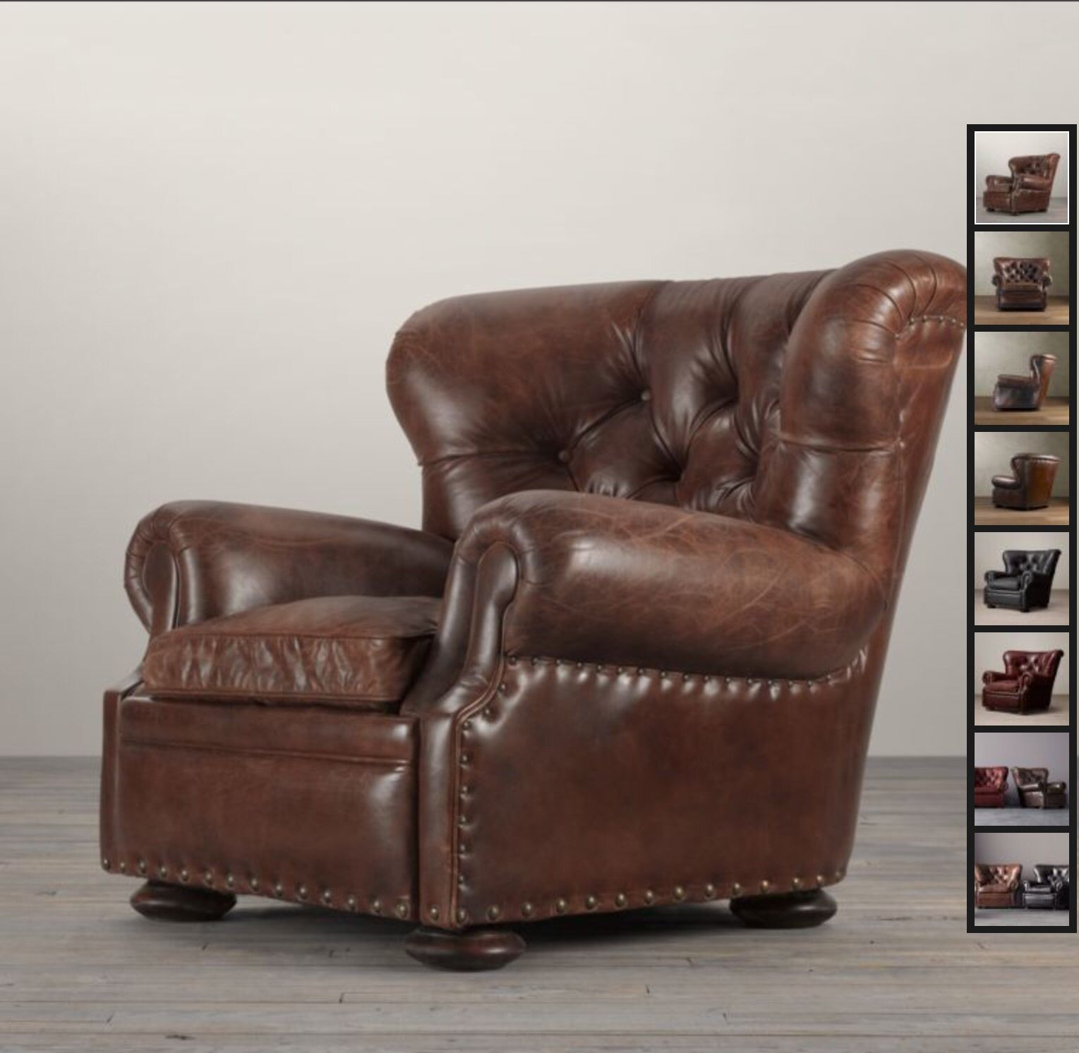 Restoration Hardware Churchill Chair fills the need for a big fy