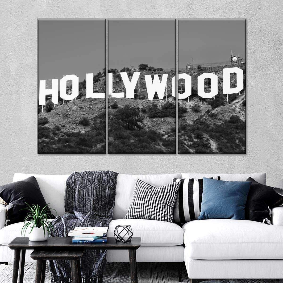 Hollywood Sign Multi Panel Canvas Wall Art Canvas Wall Art Wall