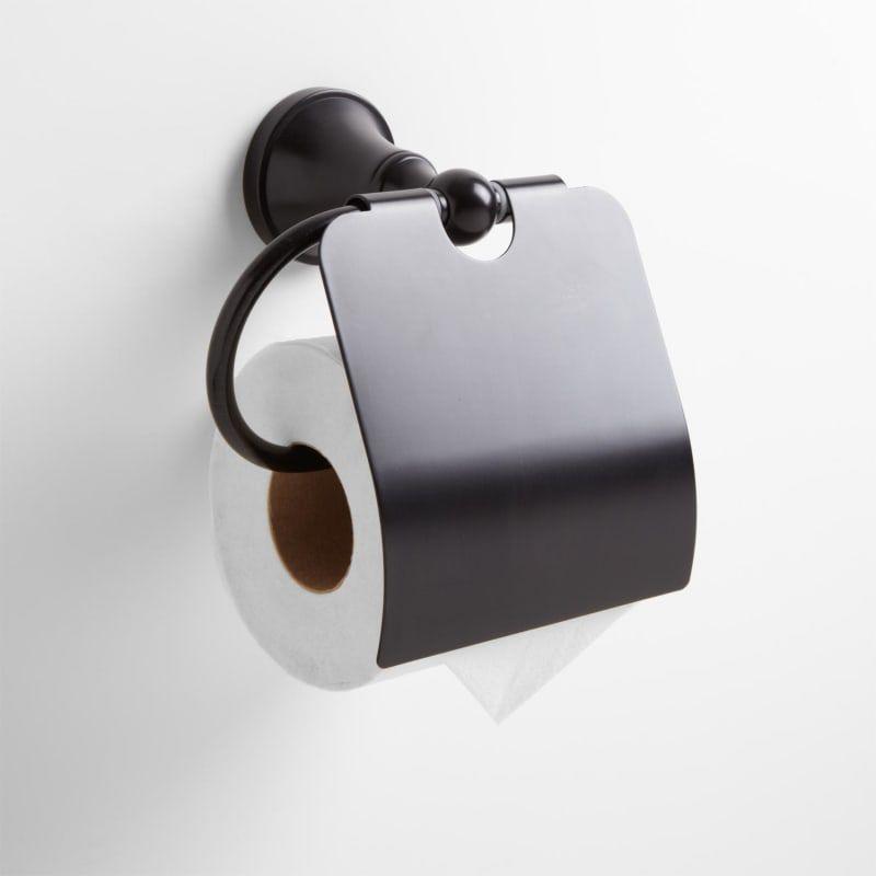 Signature Hardware 921697 Seattle Toilet Paper Holder Dark Oil
