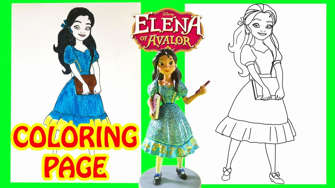 Elena Of Avalor Coloring Pages Youtube Background