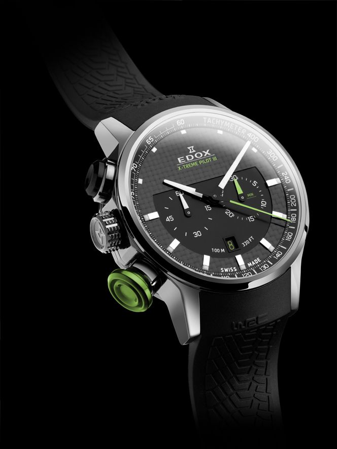 Edox Mens 10303 TIN NIN WRC Collection Xtreme Pilot III Limited Edition Chronograph Watch