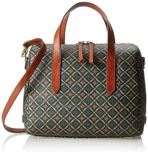 Fossil Sydney Satchel Top Handle Bag,Green Multi,One Size