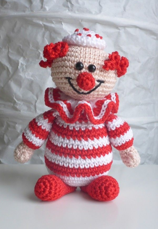 Clown häkeln | Everything sewing | Pinterest | Häkeln, Häkeltiere ...