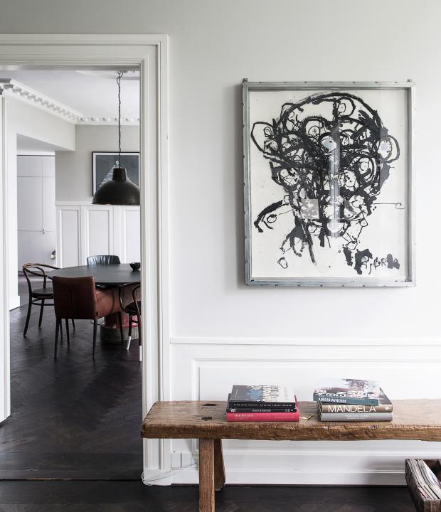 Wundervoll Schwarz Weiße Tusche Malerei Kunst Kopf Portrait Abstrakt Modern  Skandinavisch Einrichten Und Wohnen Mit Antiker