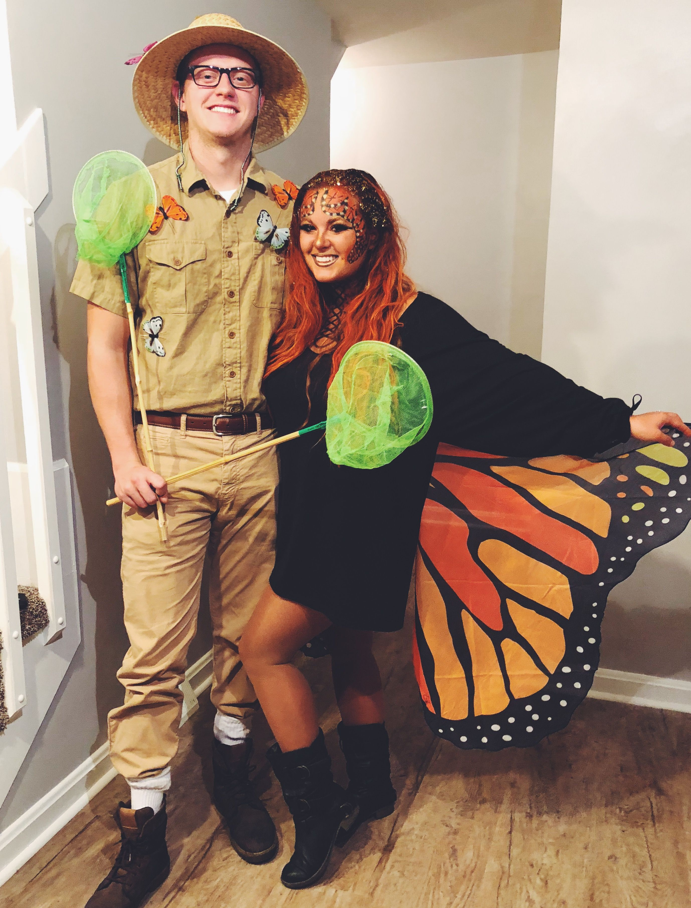 Butterfly And Butterfly Catcher Couples Costume Halloween