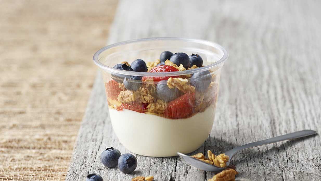 Greek Yogurt with Mixed Berries | Yogurt parfait recipe