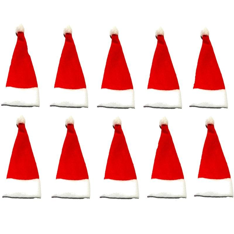 Daisy Crafts 10 Pack Mini Christmas Santa Hat Do It Yourself Diy