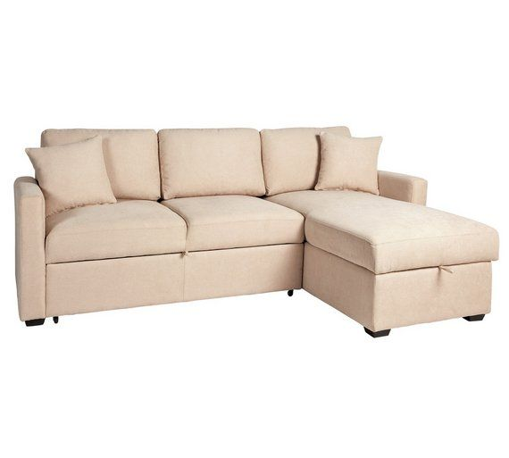 Buy Argos Home Reagan Right Corner Fabric Sofa Bed Natural Sofa Beds Argos Fabric Sofa Bed Sofa Bed Corner Sofa Bed