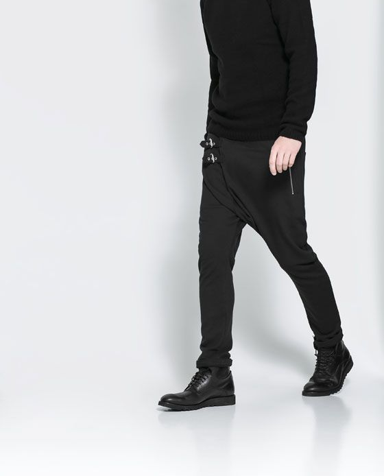 33cab906bb63 ZARA - MAN - DROP-CROTCH TROUSERS WITH ZIP AND POCKET
