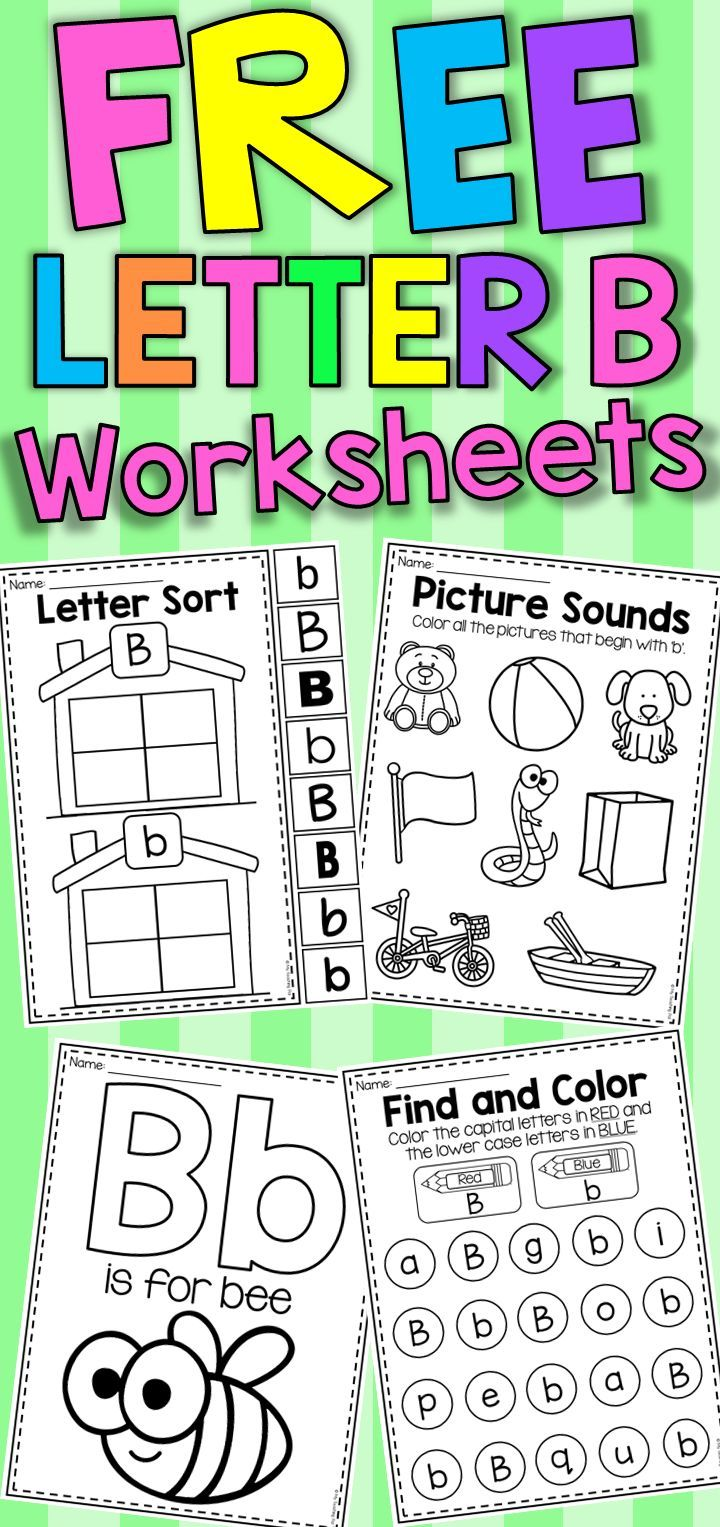 Letter B Worksheets. Students are given the opportunity to ...