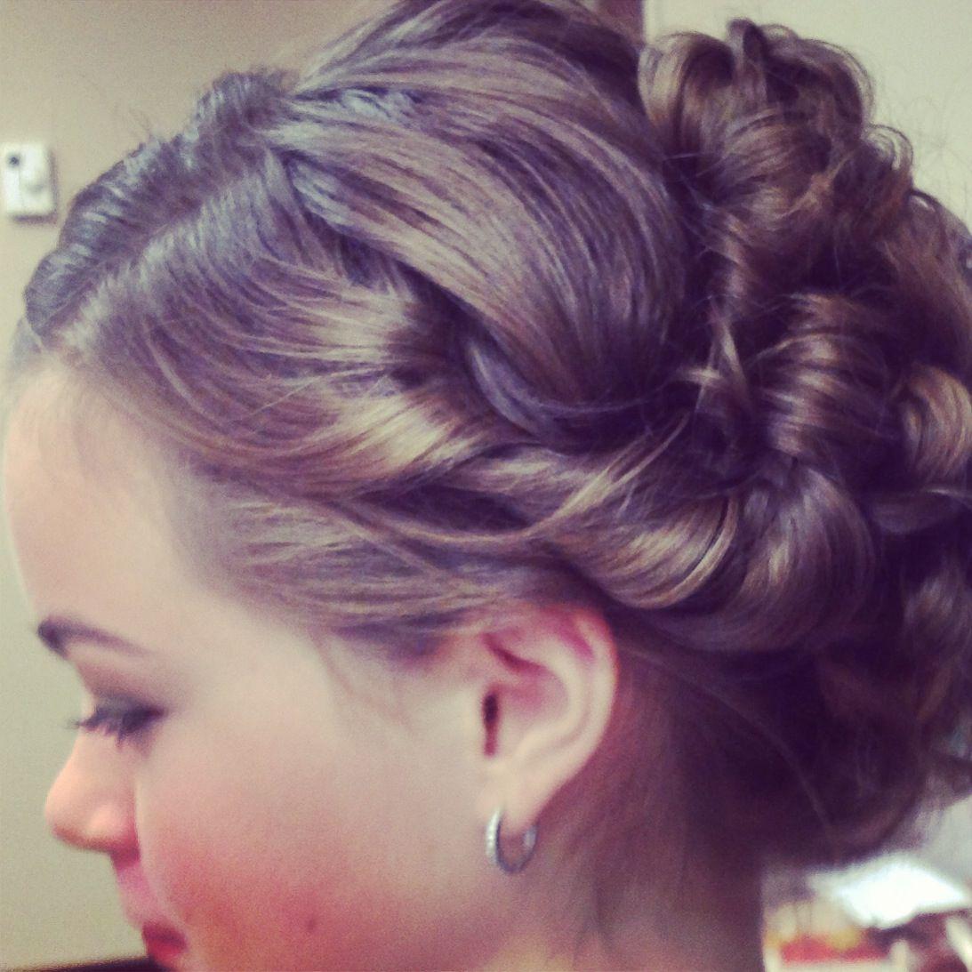 junior bridesmaid hair/updo   our wedding!!!   bridesmaid