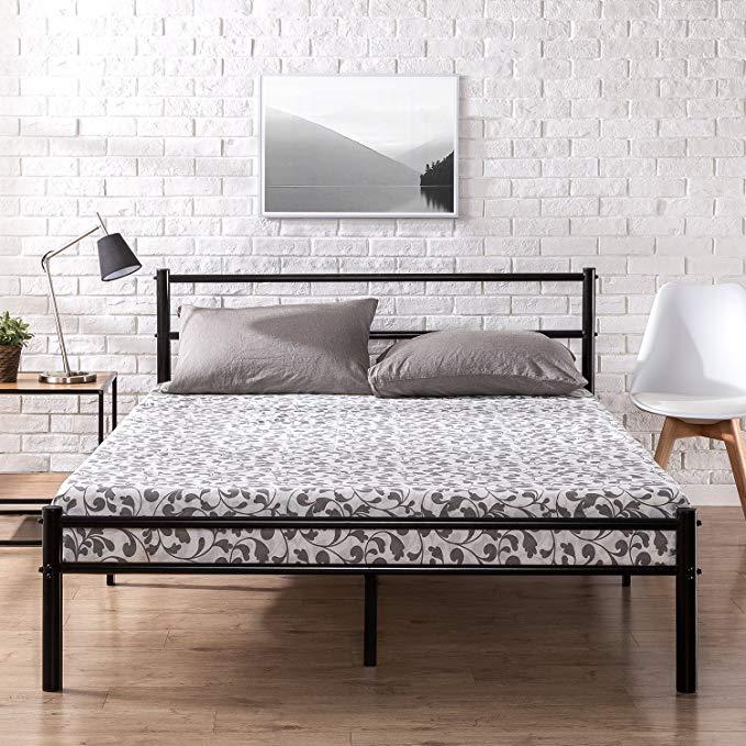 Amazon Com Zinus Geraldine 12 Inch Black Metal Platform Bed Frame