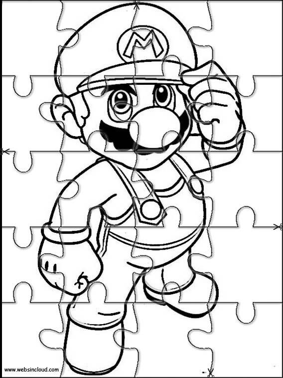 Printable jigsaw puzzles to cut out for kids Mario Bros 27 Coloring ...