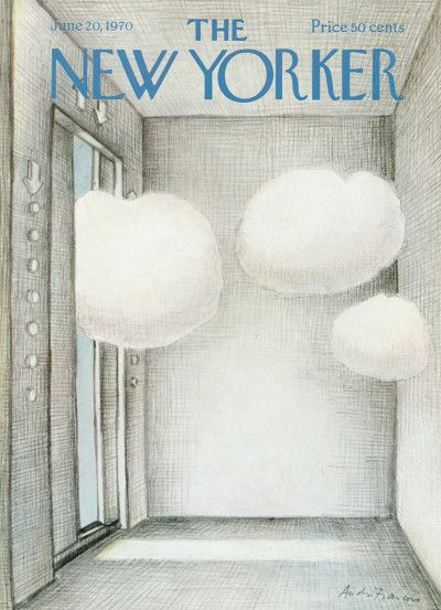 André François : Cover art for The New Yorker 2366 - 20 June 1970