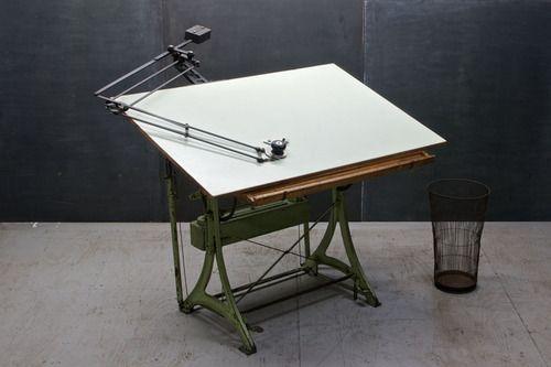 Nestler Vintage Iron Drafting Table 20th Century Vintage
