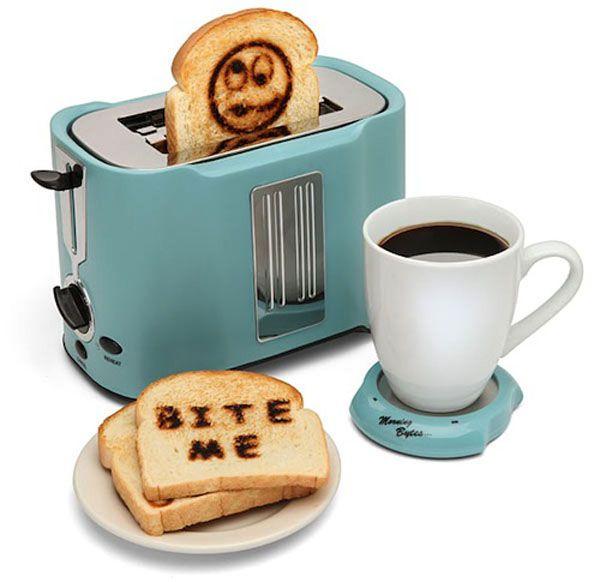 Cool Kitchen Appliances cute toaster and coaster - http://www.prettydarncool.co.za/cool