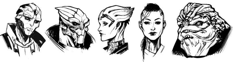 фэндомы,Mass Effect,ME art,Игры,Thane Krios,Garrus Vacarian,Samara,Jack,Grunt,kate-niemczyk