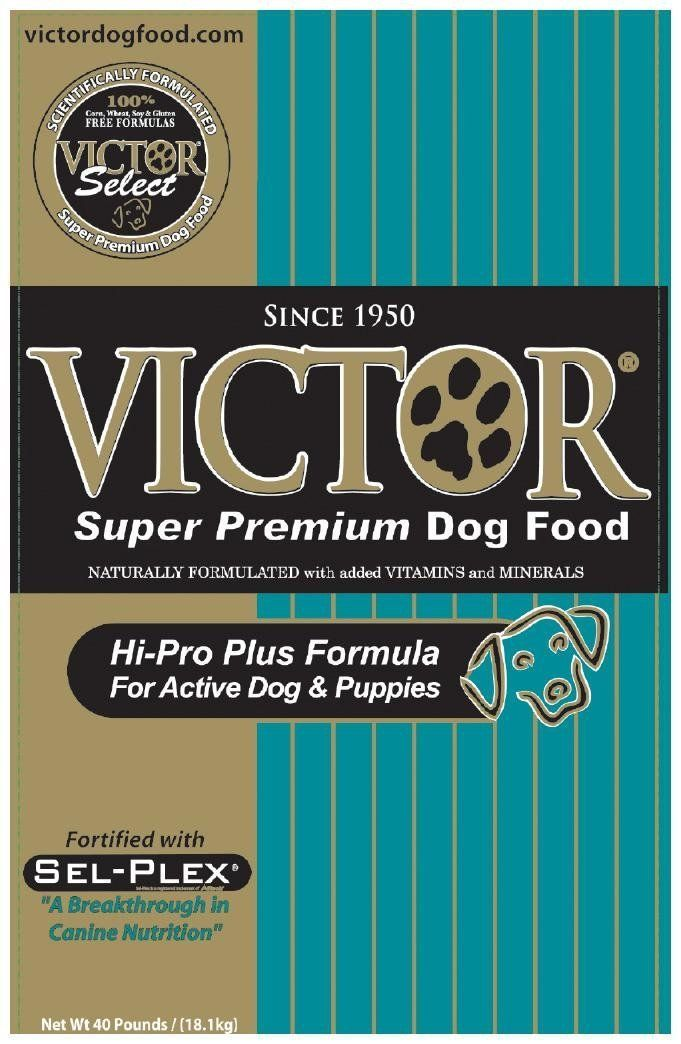 Victor Dog Food Select Hi Pro Plus Formula For Active Dogs And