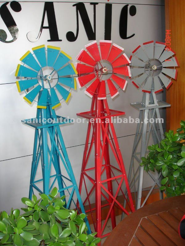 Awesome Garen Metal Windmill For Garden Decoration