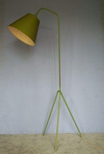 Vtg Lamp Olive Grasshopper Greta Grossman Tripod Mid Century Modern Royere Floor Ebay Modern Floor Lamps Floor Lamp Flooring