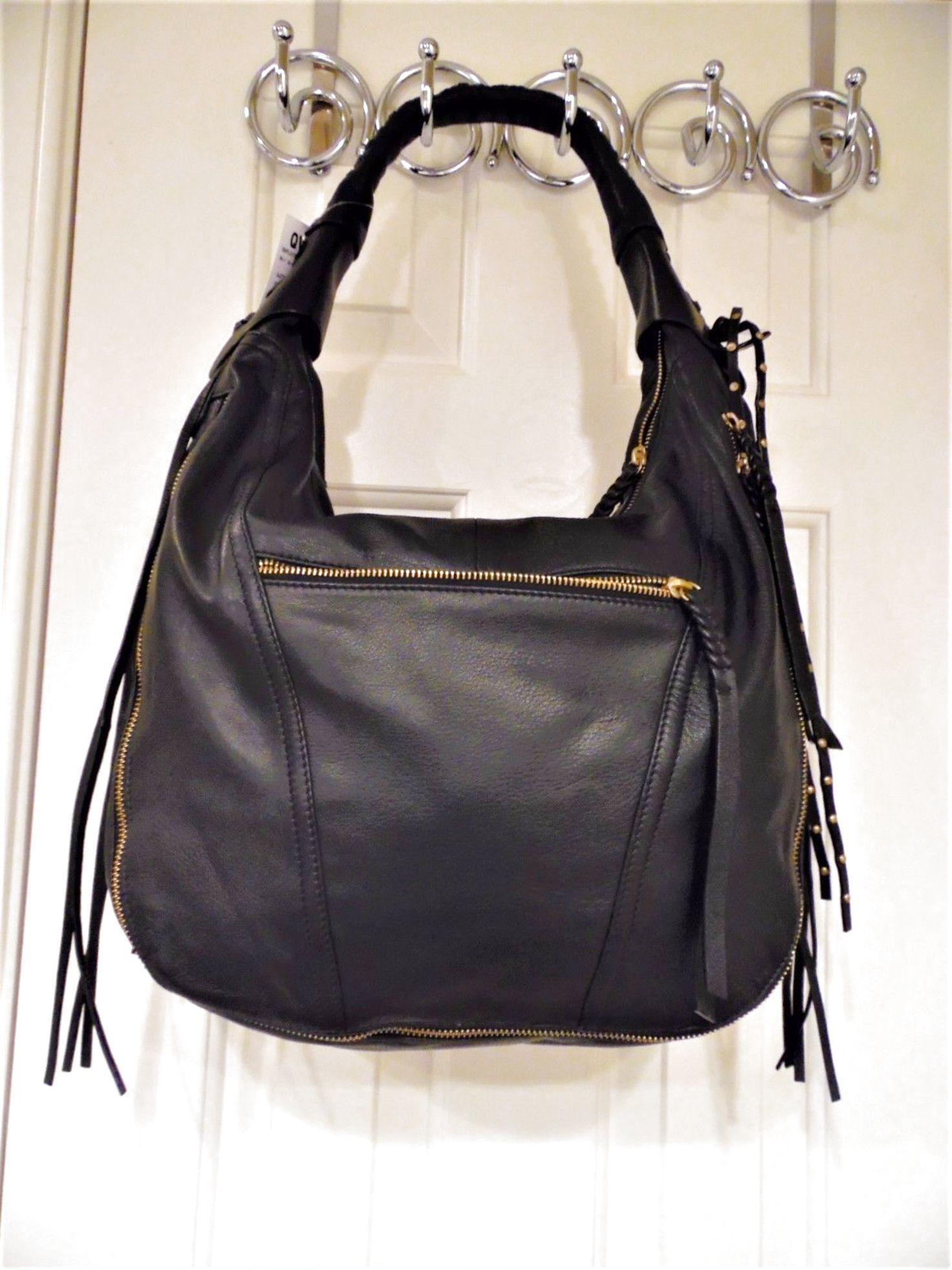 3a4802f51f orYANY Soft Nappa Leather MICHELLE Purse Handbag Hobo QVC   A270292 Black  NWT  114.99