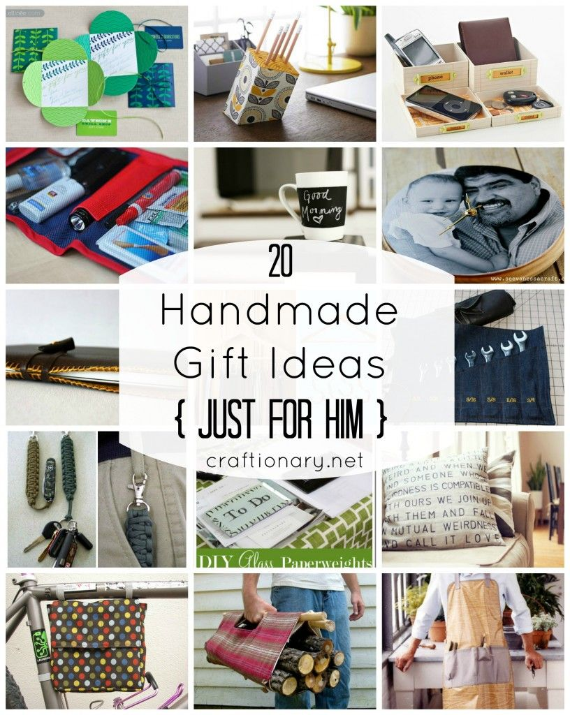 20 Men Gift Ideas {Just for HIM Diy gifts for him, Cool