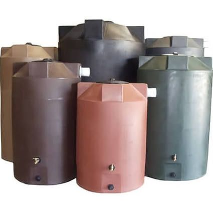 1000 Gallon Poly Mart Light Grey Rainwater Collection Tank Rain Water Tank Rain Water Collection System Rainwater Harvesting