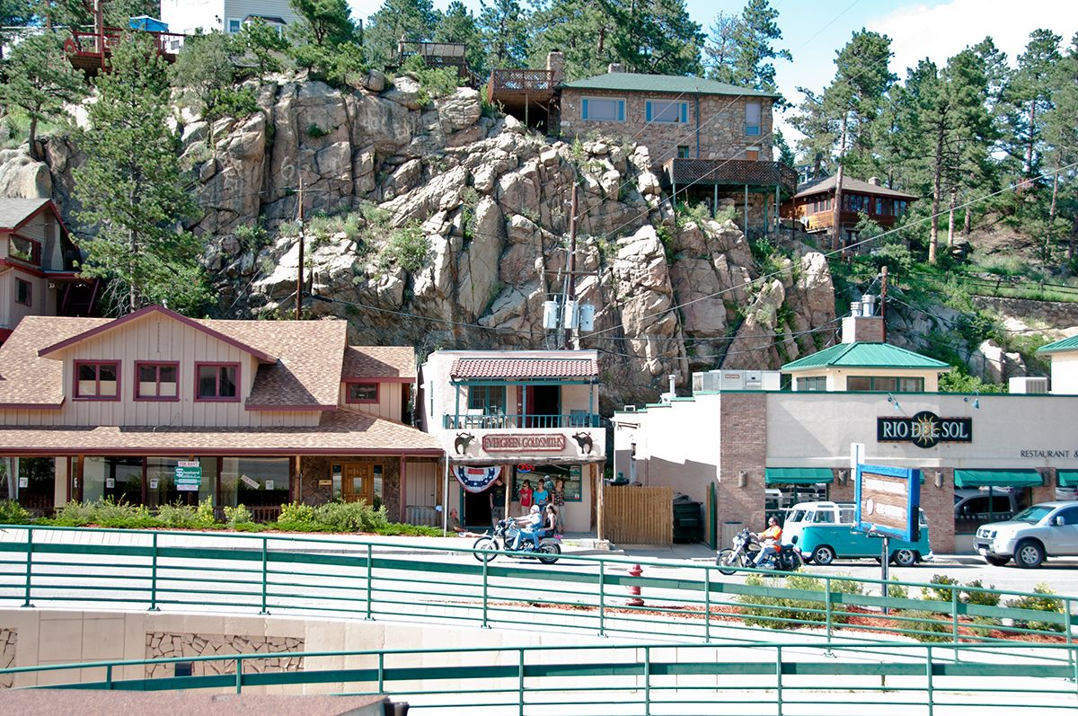 Main Street In The Heart Of Evergreen Evergreen Colorado A