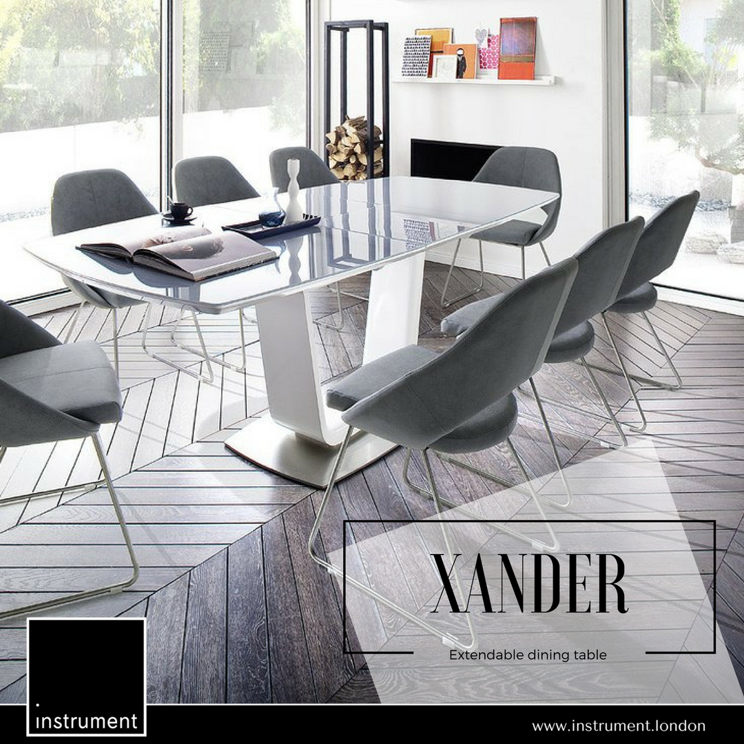 Instrument Xander Glass Dining Table Extendable 180 230