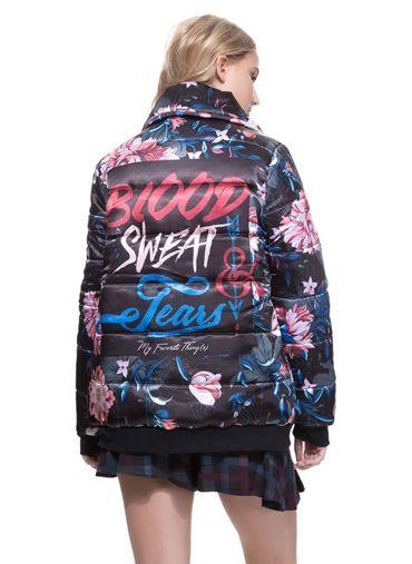 jaqueta sport estampada