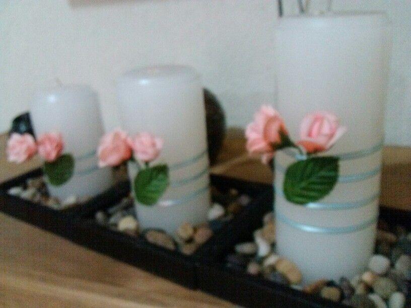 Juego de velas adorno mesa