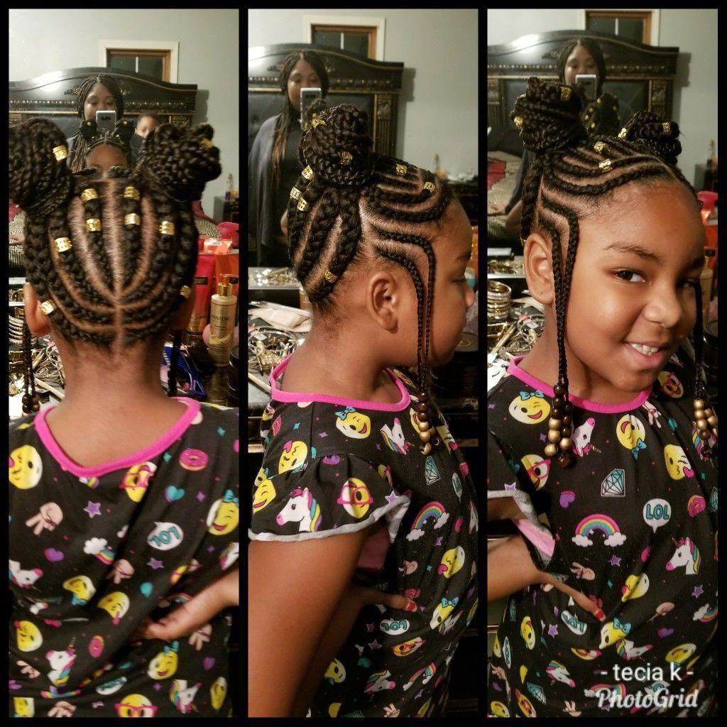 Natural Hairstyles Big Forehead Naturalhairstyles Hair Styles Braids For Kids Kid Braid Styles