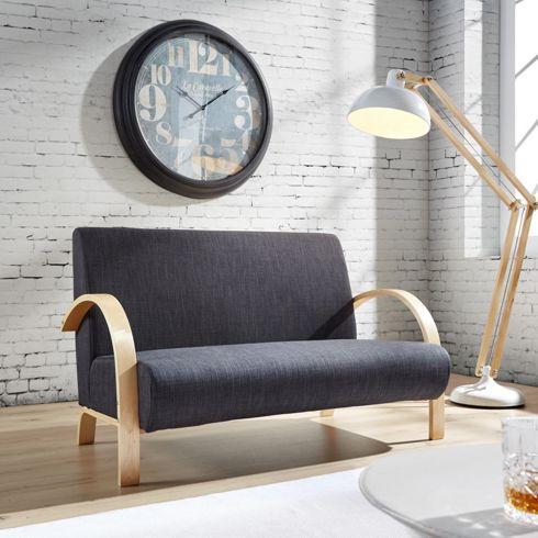 Trendiges Sofa Mit Leinenbezug In Grau   Ein Sitzplatz Mit Stil