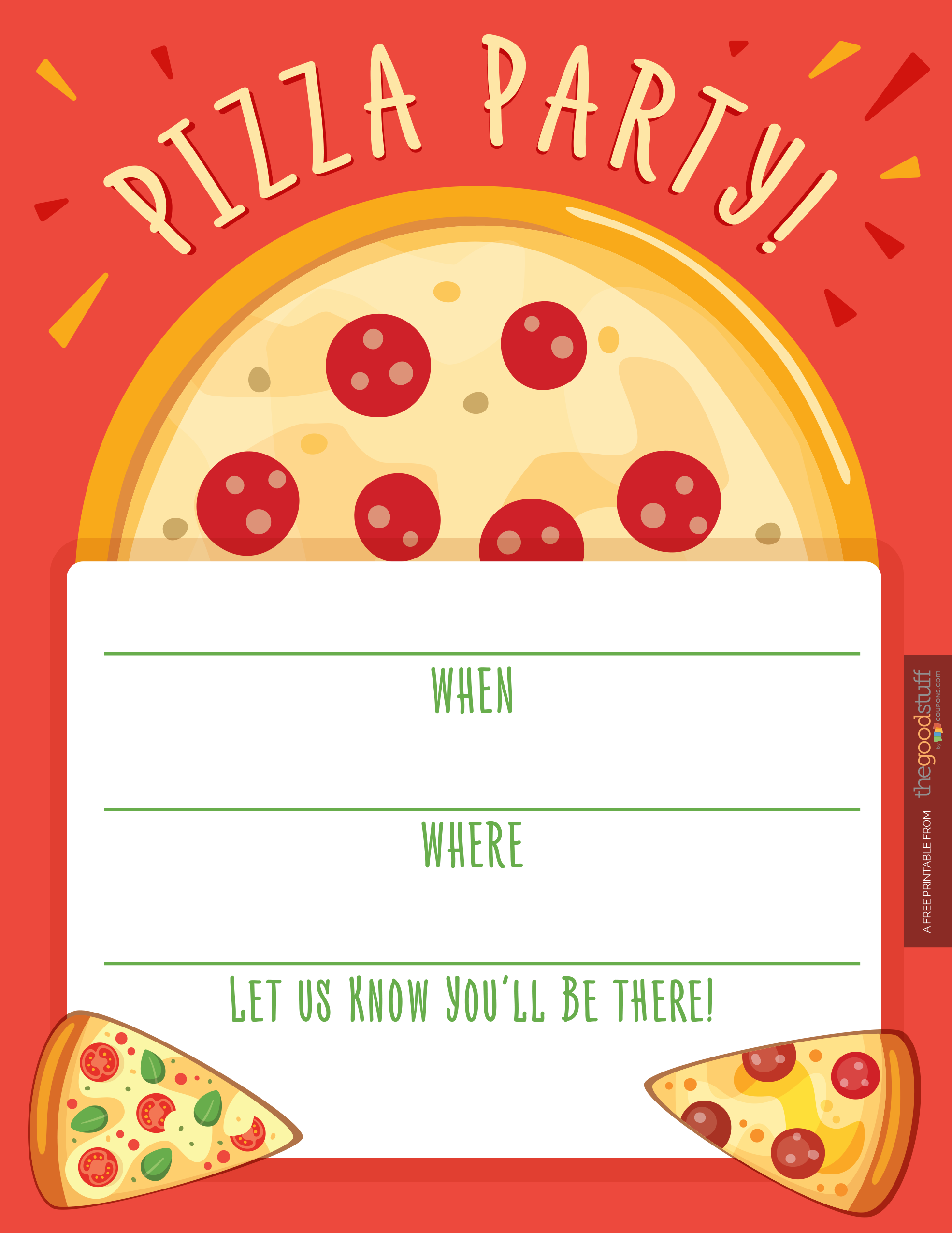 Pizza lessons and a pizza coloring page printable - Hostess Helpers Free Pizza Party Printables