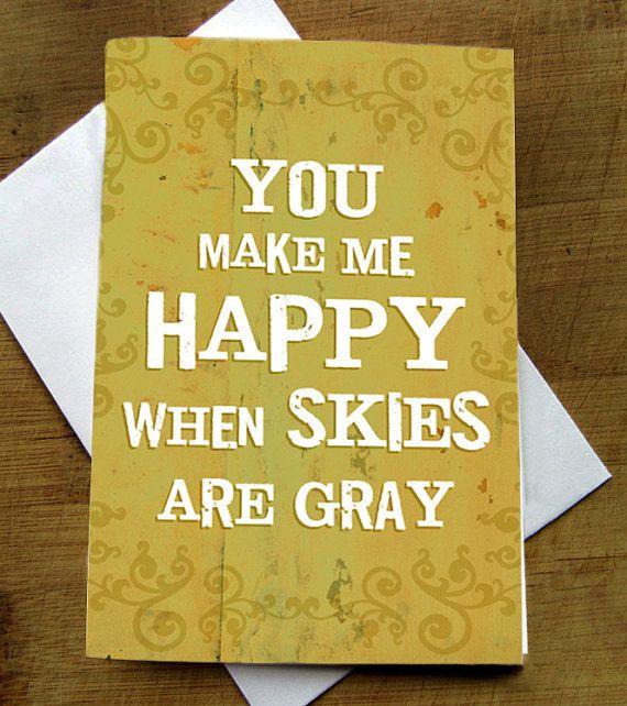 You Make Me Happy  Greeting Card by RevampRenewedLiving on Etsy