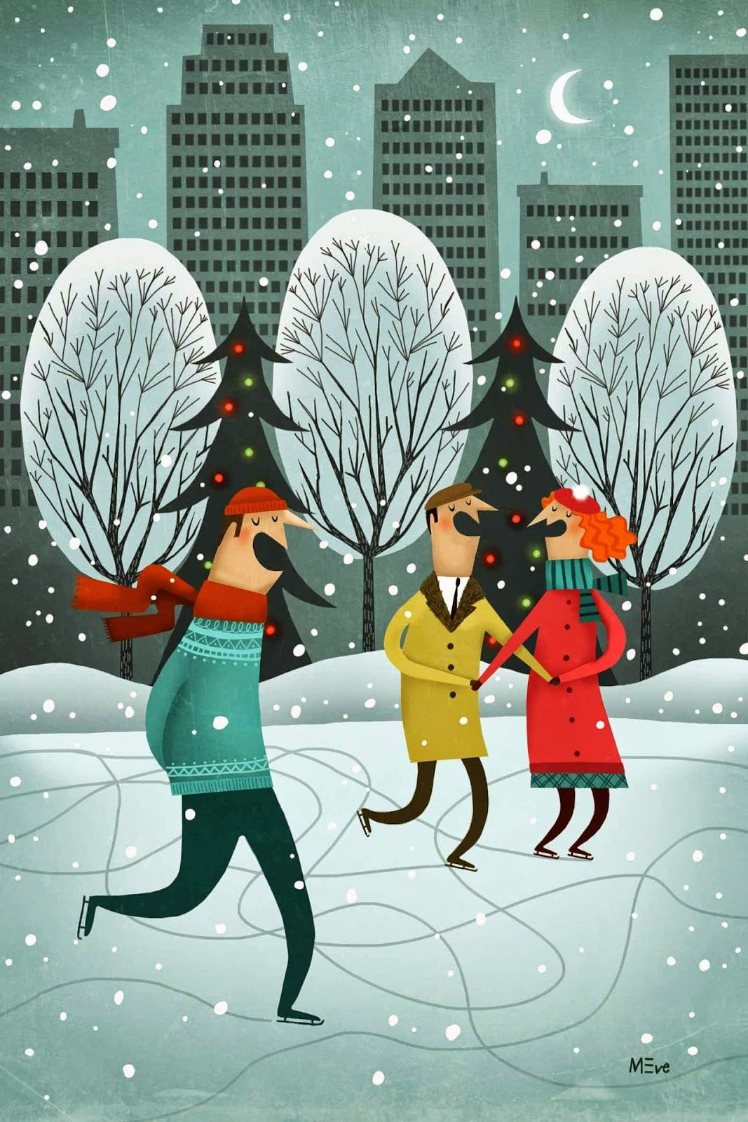 Fuidelfui Illustration Marie Eve Tremblay | Christmas illustration
