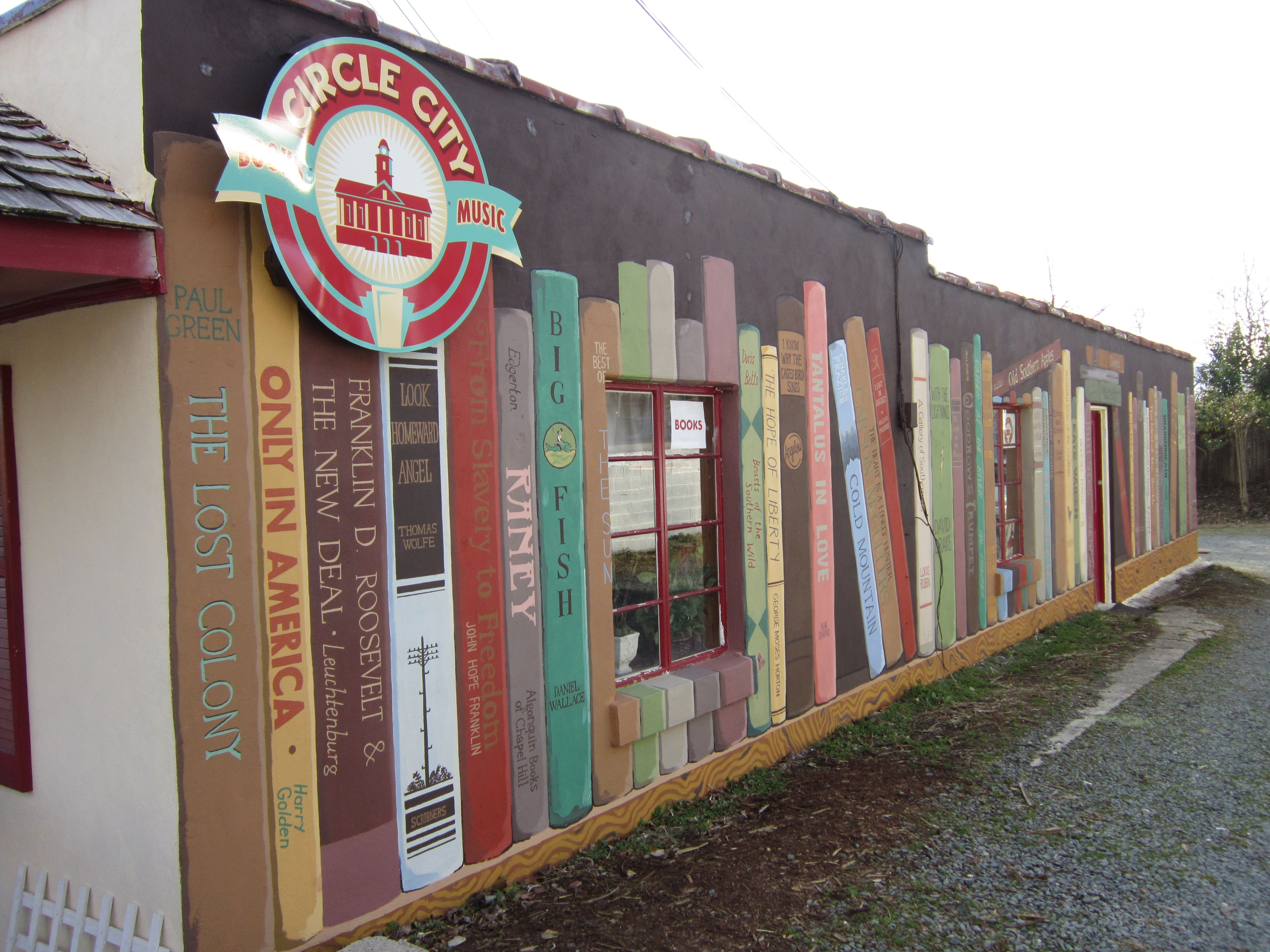 A mural created on one wall of circle city books and music store a mural created on one wall of circle city books and music store pittsboro amipublicfo Image collections