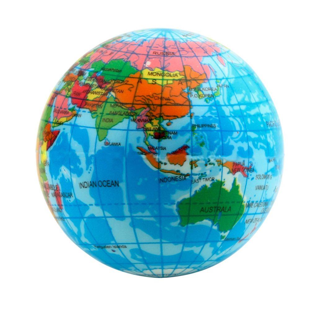 Hot 3pcs world map foam earth globe stress relief bouncy ball 3pcs world map foam earth globe stress relief bouncy ball atlas geography toy th092 gumiabroncs Images