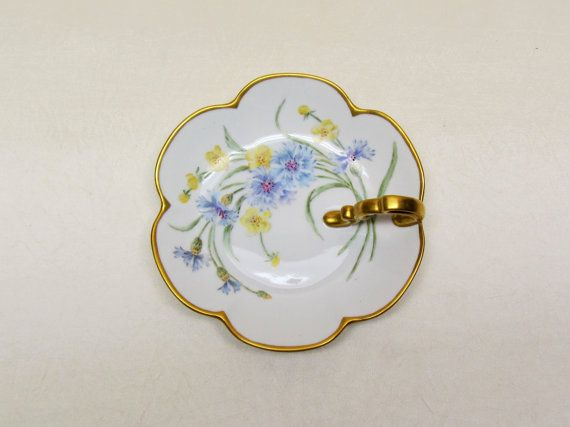 Vintage lemon dish, hand painted