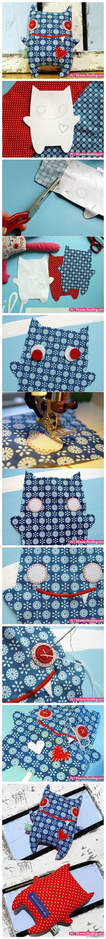 Como costurar um bichinho de pano