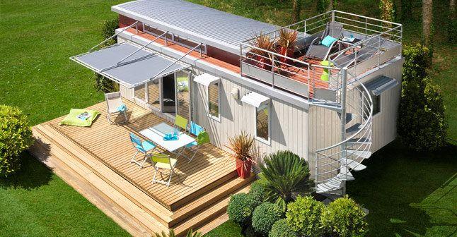 12 mobile homes pour vivre l'esprit vacances | Terrasse mobil home, Maison mobile et Idée déco ...
