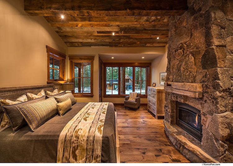 O stone and beam, ceiling, bedding 238MartisCamp12.jpg | Vance Fox Photography