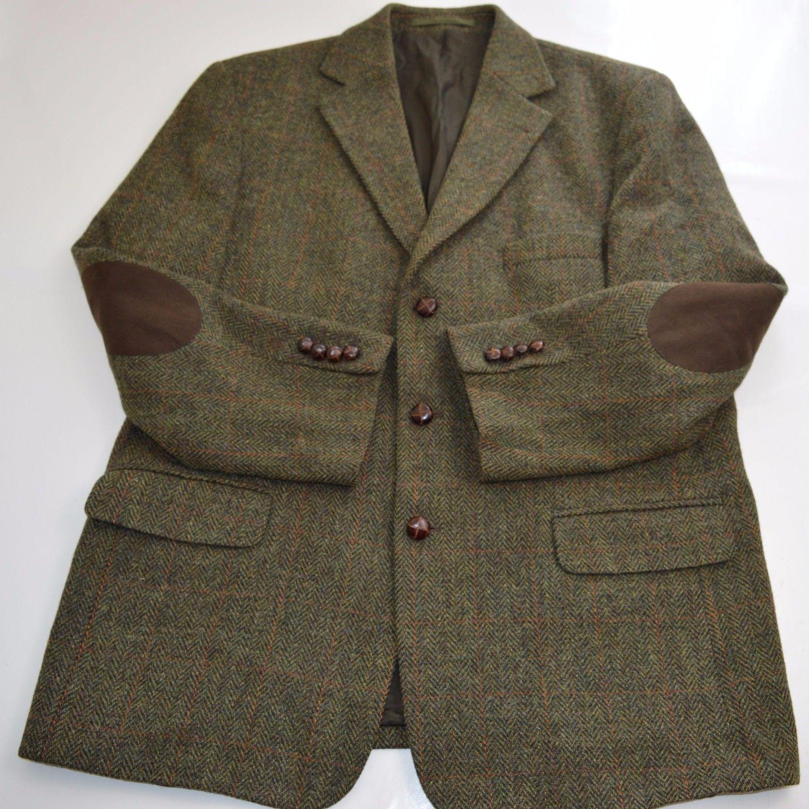 Mens Vintage Westbury Harris Tweed Blazer Jacket Size 44 46 Xl Ht02031551 Ebay Vintage Men Tweed Blazer Tweed