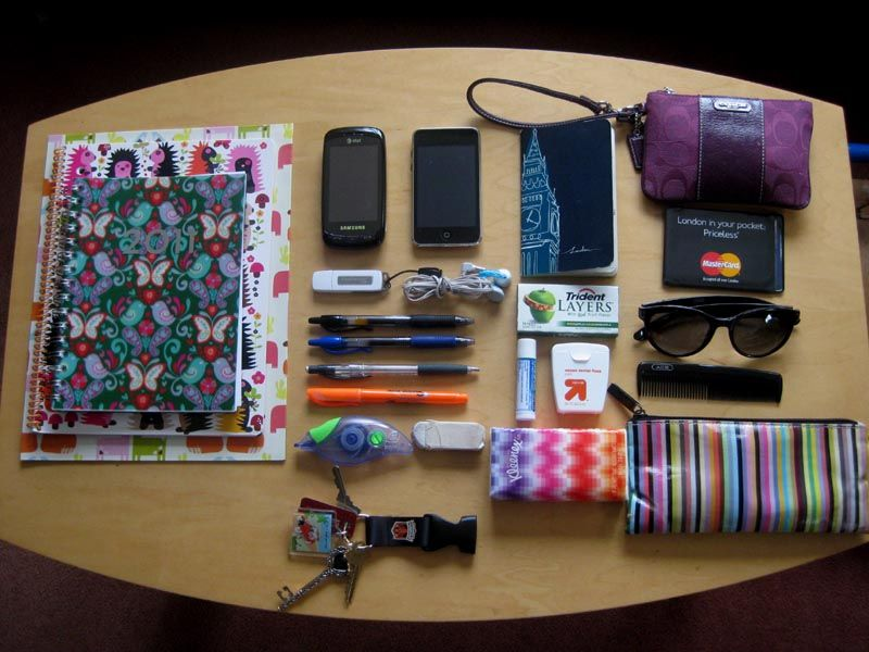 Collective Endeavors: What's in My School Bag